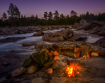 Bushcraft camping. Norway. Fine Art Landscape Photography by Gary Waidson