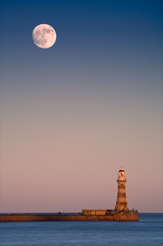 Roker Moonrise. Fine Art Landscape Photography by Gary Waidson