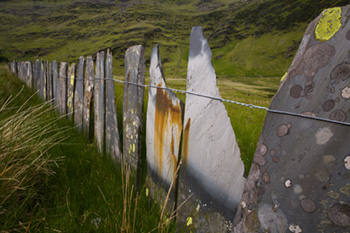 Sate fence in Cwmorthin. Fine Art Landscape Photography by Gary Waidson